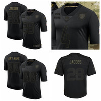 Wholesale raider jerseys resale online - Las Vegas Raiders Men Josh Jacobs Derek Carr Salute To Service Retired Limited Football Jersey Black