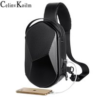 Wholesale Celinv Koilm Brand Multifunction Crossbody Bag for Men Anti theft Shoulder Messenger Bags Male Leather Short Trip Chest Bag Pack C1016