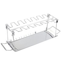 Wholesale chicken roast resale online - Folding Stainless Steel Grilled Chicken Leg Rack With Bottom Tray Roast Chicken Grill Plate Barbecue Grill Bbq Grill bbyoEH yhshop2010