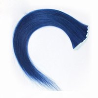 Wholesale tape human hair extensions blue for sale - Group buy ELIBESS HAIR Blue Color Tape In Human Hair Extension g set Skin Weft Tape On Human Hairs