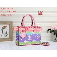 için kadın tasarımcı çanta toptan satış-Louis Vuitton LV Tote Bag For Sale Summer Tie Dye Luxury Louìs Vuìttõn Women's Handbag Purses Designer Pastel Tote Escale Collection
