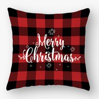 Wholesale woven home pillowcase resale online - 45 cm Christmas Snowflake Pillowcase New Year Decor Santa Cushion Covers Home Sofa Pillow Case Xmas Pillow Cover Party Supplies CCD2107