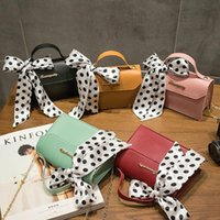 Wholesale leather messager bags for sale - Group buy Hot Sale Small Shoulder Bag Girls Fashion Women PU Leather Messager Crossbody Bag Handbag Silk Scarf Decoration Square Clutch