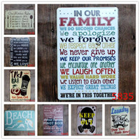 Wholesale holiday paintings resale online - English Poetry Romantic Sign Vintage Tin Signs Home Decoration Bar English Poetry Metal Craft Gifts Poster Iron Painting DWB1323