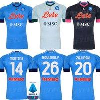 Wholesale jersey naples resale online - 20 Napoli home away coccer jersey Naples KOULIBALY camiseta de fútbol INSIGNE MILIK H LOZANO MERTENS third black football shir