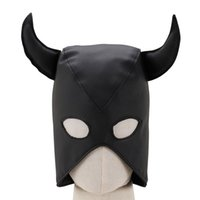 Wholesale leather face hood resale online - Adult Fashion Breathable Mask for Face Pu Leather Halloween Masks for Women Anime Cosplay Harness Head Bondage Hood Role Play