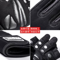 Wholesale fitness glove strap for sale - Group buy Ltoheyn Fitness Gloves Men And Women Half Finger Sports Non Slip Wear Resistant Weightlifting Glove Long Wrist Strap Hand Gloves bbyavl