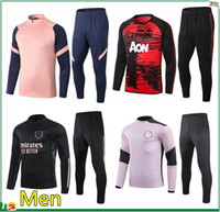 fatos de treino homem de futebol venda por atacado-2020 2021 mens soccer tracksuit 20 21 men football tracksuit football training suit survetement foot chandal futbol jogging