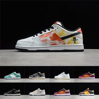 Wholesale shoe leather resale online - SB Dunk Sneakers Low Skateboard Shoes Mens Womens Shadow Jackboys Diamond Raygun Viotech Road Sign Samba Laser Orange Casual Shoes
