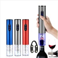 Wholesale kitchen favor gifts resale online - Electric Wine Bottle Opener Electric Champagne Corkscrew Battery Operated Bottle Openers Kitchen Bar Home Tool Party Favor Gift LJJP611