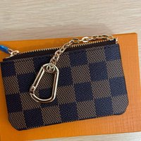 Wholesale 2020 New KEY POUCH M62650 POCHETTE CLES Luxury Mini Wallet Designer Fashion Womens Mens Key Ring Credit Card Holder Coin Purse