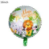 Wholesale safari animals resale online - 5pcs Jungle Animal Tiger Lion Monkey Zebra Giraffe Cow Air Helium Balloon Kids Safari Birthday Party Decor Zoo Theme Supplies bbyEuI bwkf