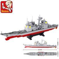 Wholesale sluban toys for sale - Group buy Sluban B0389 Army Navy Warship Model Building Blocks Cruiser Plane Carrier Bricks Toys Gift Gift wmtXnE jjxh