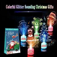 Wholesale interior ornaments resale online - Creative Music Luminous Ornaments Colorful Color Changing Acrylic Christmas Ornaments Christmas Interior Decoration Supplies BWE2266