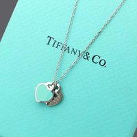 Wholesale original gold pendant resale online - 2020 Luxury men and women pendant rose gold necklace top jewelry for women fashion designers and original box gift Tíffany necklace