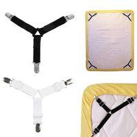 Wholesale triangle bedding resale online - Triangle Bed Sheet Clips Straps Gripper Blanket Mattress Cover Corner Suspender Fitted Sheet Fastener Holder Practical Tool BWC2834