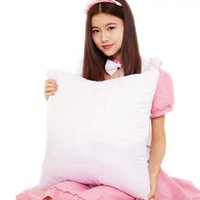 Wholesale bedding heating resale online - 40 cm Sublimation Pillowcase DIY Heat Transfer Printing Pillow Cover Blank Pillow Cushion Without Insert Home Bedding Supplies LJJP761