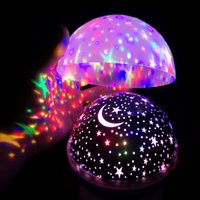 Wholesale rotating star moon lamp for sale - Group buy Star Night Lights for Kids Universe Cosmos Starry Sky Light LED Projector Rotating Lamp Nightlight Moon Sea World Decorative