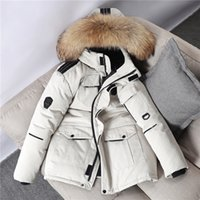 Wholesale parka scarf for sale - Group buy Brand Thick Warm Down Jacket Men Winter Fur Collar Parkas Hooded Coat degrees Overcoat Windbreaker Down Jackets Big Size XL