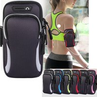 Wholesale arm bag running resale online - Outdoor Sport Arm Bags with Adjustable Belt Waterproof Universal Running Hiking Armbands Case Cover for Phone