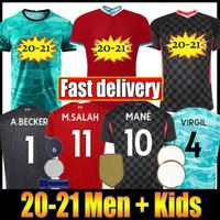 Wholesale jerseys salah for sale - Group buy New Mohamed M Salah FIRMINO Soccer Jersey Football Shirts VIRGIL MANE KEITA Men Kids Kits set uniforms