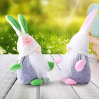 Cute Easter Bunny Rabbit Gnome Faceless Bunny Dwarf Doll Easter Plush Rabbits Dwarf Holiday Party Table Decoration Home Accessories FY7467