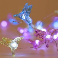 Wholesale remote control birds resale online - Christmas Halloween Decorative Bird String Lights Led Weatherproof mode Indoor And Outdoor Remote Control Copper Wire Lamp