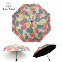 Wholesale vinyl rain resale online - Easyzreal Parapluie Women Fashion Leaves Umbrellas Vinyl Fresh Female Sun Rain Umbrella Convenient Women Paraguas Gifts bbyWjJ bdetoys