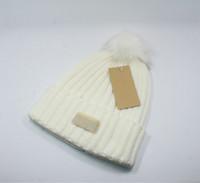 Wholesale beach ball free resale online - Hot Sale Ball Winter Warm Hat Brand Ladies Wool Beanie Women Men Designer Knitted Hats