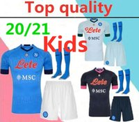 Wholesale football shirts napoli resale online - 2020 Serie A Naples Napoli kids soccer jerseys full kits Napoli LOZANO HAMSIK L INSIGNE kids football shirt with socks