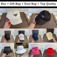 ingrosso cappelli donna-Top Quality For Regalo con Box Regalo Bag Sacchetto di polvere 2020 Berretto da baseball Mens Donne Cappello da golf Snapback Beanie Skull Caps Sunscreen Stingy Cappelli da corn