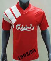 Wholesale soccer liver for sale - Group buy 1992 Home Shirt Retro soccer Jerseys Liver p Rush Fowler BARNES Nicol McManaman Home retro legendary Football shirts