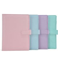 Wholesale free notebook spirals for sale - Group buy A6 Empty Notebook Binder Loose Leaf Notebooks Without Paper PU Faux Leather Cover File Folder Spiral Planners Scrapbook Colors DHL Free