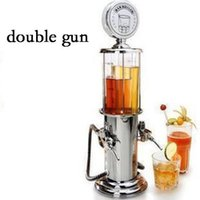 Wholesale mini water guns resale online - Double Gun Mini Beer Pourer Barware Water Liquid Drink Dispenser Wine Pump Dispenser Machine Bar Tools