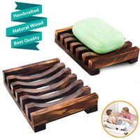 New Wooden Soap Tray Holder Storage Soap Rack Plate Box Container for Bath Shower Plate Bathroom Natural Bamboo Wooden Soap Dish