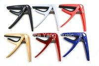 Wholesale pink blue guitars resale online - Niko Colorful Plastic Ukulele Guitar Capos Clamp Key Change Black White Red Blue Pink Beige Colors