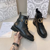 Wholesale imitation boots for sale - Group buy Top Designer high quality leather women s boot gear platform combat boots platform platform shoes cowhide motorcycle Martin boot bo A58