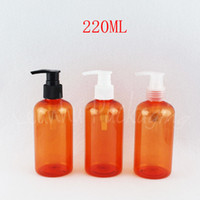 Wholesale orange shampoo for sale - Group buy 220ML Orange Plastic Bottle With Lotion Pump CC Shampoo Packaging Empty Cosmetic Container