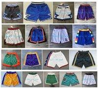 Wholesale top purple basketball jerseys resale online - Top Quality Basketball Shorts Team Don Pocket Shorts Sport Shorts Pants White Blue Red Purple Green Black