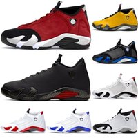 ingrosso jordan 14-Nike air jordan 14 retro AJ14 NEW Snakeskin Jordan retro 14 shoes 14s Mens Gym Red DMP Hyper Royal Candy Cane Black Toe Sports Sneaker WFI2
