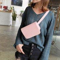 Wholesale waist accessories resale online - Fanny Pack Women Waist Bag Crocodile Pattern PU Leather Messenger Shoulder Belt Bag Pocket Running Belt Chest Pouch Accessories