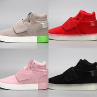 Wholesale tubular invader strap for sale - Group buy TnRXB High Quality Tubular Invader Strap Kanye West Mens Running Athletic Sneakers Size Sports sports shoes Leather shoes