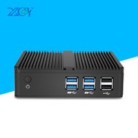 Wholesale XCY Fanless Mini PC Computer Intel Win Core Y HTPC Linux Micro Desktops Nettop NUC MINIPC Sobremesa Thin Client