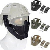 masque d'hommes de fer achat en gros de-Airsoft Masque Nouveau vélo Hommes Mascara Outdoor Balaclava Mask hiver MA-95 Fer tactique Guerrier Demi visage module Masque tactique