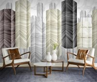 Wholesale sound tiles for sale - Group buy 3d Wallpaper Light Luxury Jazz White Geometric Marble Modern Simple TV Wall Tiles Mural Wallpaper