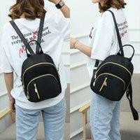 Wholesale small bookbags resale online - Women School Bag Fashion Shoulder Rucksack Ladies Bookbags Nylon Satchel Travel Small Backpack Hand bag Shoulder Bag Girls Gift