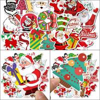 Wholesale tree bathroom decor resale online - Waterproof Wall Stickers Room Decor Laptop Skateboard Sticker Christmas Tree Santa Claus Graffiti Sticker Waterproof Party Gifts sl