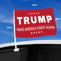 Wholesale cars cm for sale - Group buy Presidential Election Car Window Flag Trump Flag Hanging cm Decor Banner Keep America Great Trump Campaign Flags CCD2092