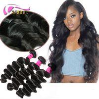 Wholesale xblhair resale online - XBLHair Brazilian Virgin Hair Weave Body Loose Deep Wave Straight Hair Bundles Human Remy Hair Extensions