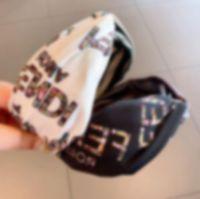 Wholesale lace edging ribbon for sale - Group buy 2020 Autumn winter Desinger Korean custom east door imported velvet Silk cross letters wide edge press Lace Soild Color hair knot hair hoop